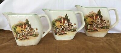 """Antique """"Lord Nelson""""Set Of 3 Graduating Jugs"""