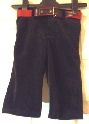 Ralph Lauren trousers for 9 m baby-black colour with belt-new