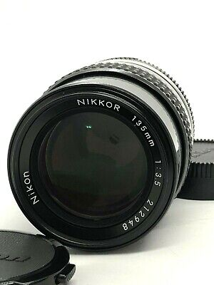 【Top Mint】Nikon Ai Nikkor 135mm f/3.5 Telephoto Lens From Japan