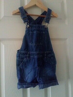 Baby Gap Girls Denim Blue spot Short Dungerees Adjustable Straps Age 3 years