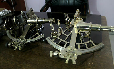 Pair Of 2 Nautical Brass Sextant Maritime Vintage Sextant Ship Working Astrolabe