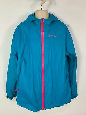 Girls Mountain Warehouse Blue Light Weight Jacket Rain Coat Kids Age 13 Years