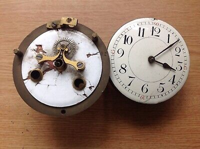 Antique French Clock Movements 90 And 95mm Diameter For Spare Parts