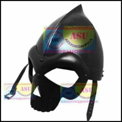 Medieval Knight Skull Crusher Helmet Wearable Sca Viking Fantasy Iron Steel Cap