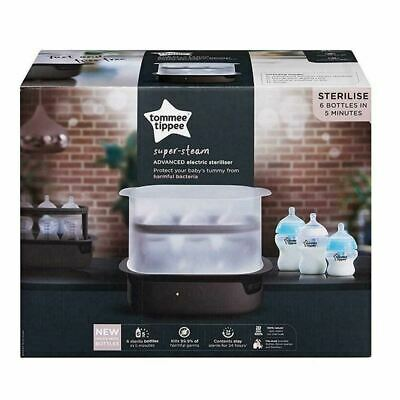 Tommee Tippee Super Steam Advanced Electric Steriliser Black