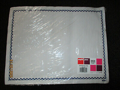 White Disposable Paper Placemats Tray Cover 32X42CMS PACK OF 500 NUPIK CAFE