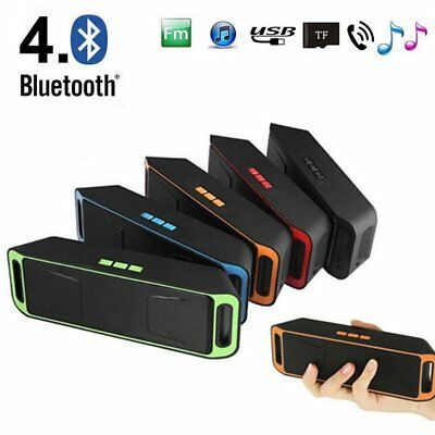 Recharegable Wireless Bluetooth Speaker Portable USB/TF/FM Radio Stereo Fg