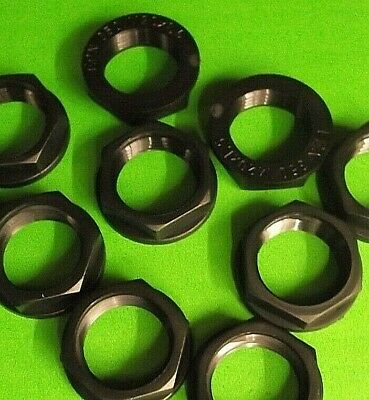 M20 20mm Black Plastic Nuts 93B spares for M 20 Cable Gland x 10pcs