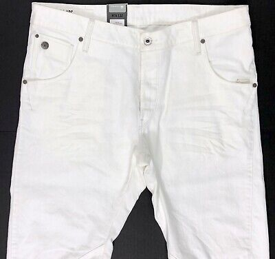 G Star Raw Arc 3D Tapered White Jeans Men's 34x32   (A12-6)