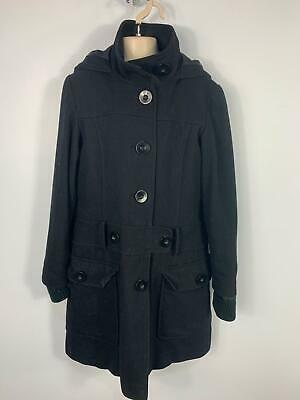 Girls Next Black Smart/Casual Button Winter Jacket Over Coat Kids Age 11/12 Year