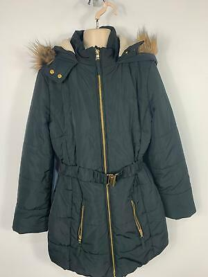 Girls Marks&Spencer Black Padded Winter Hood Jacket Raincoat Kids Age 13/14 Year