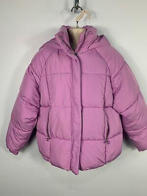 Girls Zara Light Purple Padded Winter Hood Jacket Raincoat Kids Age 11/12 Years