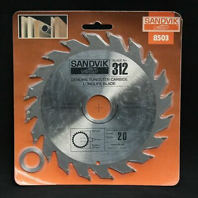 Max RPM 6,200 #6 Sandvik TCT Circular Saw Blade 12.7mm x 154mm 24Teeth