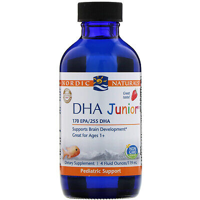 New DHA Junior, Strawberry Flavor - 4 fl. oz (119 ml) by Nordic Naturals