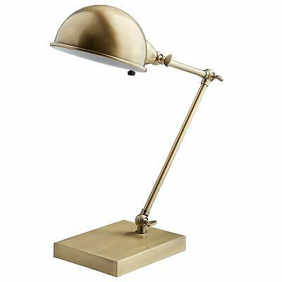 Pottery Barn West Elm Factory Task TABLE Art Desk Lamp Antique Brass Light