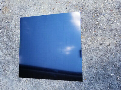 "12""X12"" Black .025"" Color Anodized Aluminum Sheet, Metal, 22 Gauge CNC Plate"