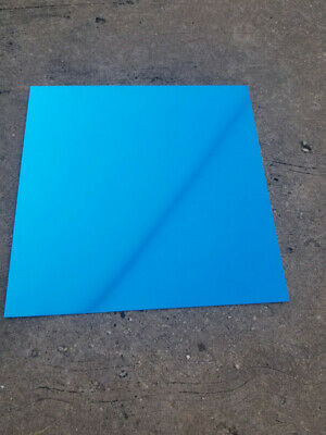 "12""X12"" Blue .025"" Color Anodized Aluminum Sheet, Metal, 22 Gauge CNC Plate"
