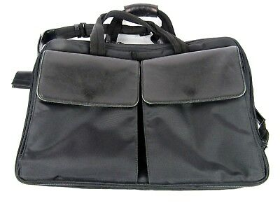 Hartmann Black Ballistic Nylon Computer Laptop Case Bag Carry On Travel Shoulder