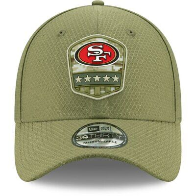 San Francisco 49ERS 2019 NFL New Era 39THIRTY Salute To SERVICE On Field Hat Cap