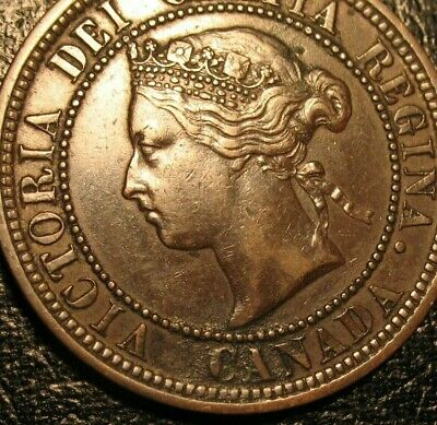 Old Canadian Coins 1876 Large Cent Canada Highgrade Beauty