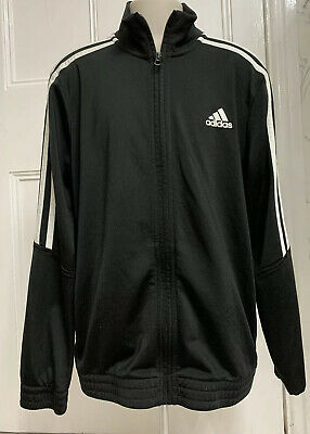 Adidas Black Tracksuit Top Age 11-12yrs-Zip Through/Boys/Girls/Sportswear