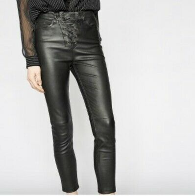 The Kooples High Rise Leather Pants Sz 34 Womans 26