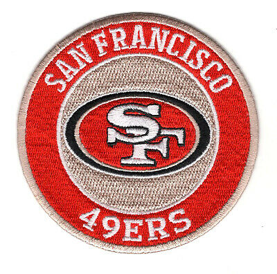 "🏈3.5"" SAN FRANCISCO 49ers Round Logo Iron-on Football Jersey PATCH! Super Bowl!"