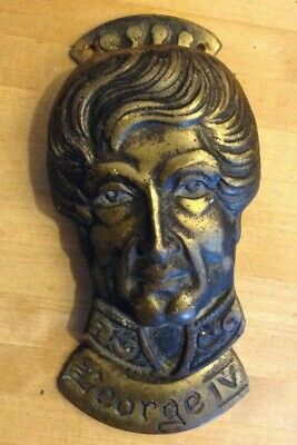 Vintage Original Reclaimed George IV Brass Door Knocker - BEL Gt. Britain