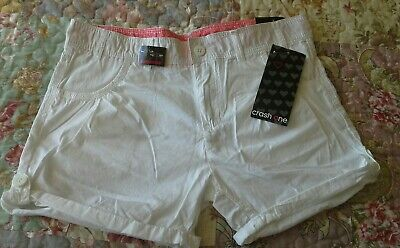 CRASH ONE Girls White Shorts Age 14-15 Years Holiday Festivals NEW BNWT