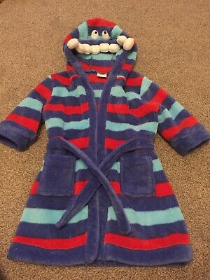 Baby Boys Miniclub Monster Dressing Gown 1-1.5years