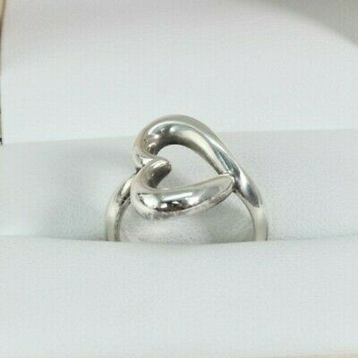 James Avery 925 Sterling Silver Retired Abounding Open Heart Ring SIZE 4.5 FS!