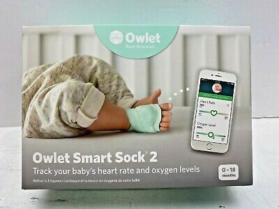 Owlet Smart Sock 2 Baby Oxygen Level and Heart Rate Monitor Ships Free