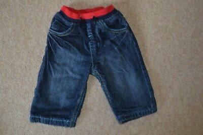 Boys Bluezoo Denim Elasticated Waist Jeans Age 3 - 6 months
