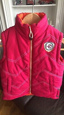 Horseware Reversible Pink/orange Girls Gilet Age 7 Years  Perfect Condition