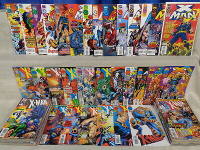 X-Man 1-75, '96-'98 Ann. +more COMPLETE SET! 80 Marvel Comics (b 22173)