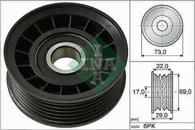 VOLVO C30 533 2.0 Aux Belt Idler Pulley 06 to 12 Guide Deflection INA 31272239