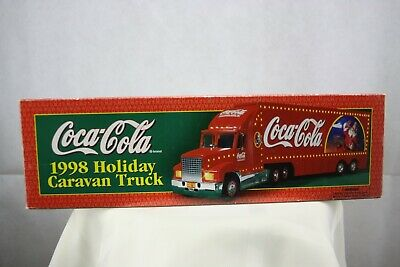 Coca-Cola 1998 Holiday Caravan Light Up Truck Semi Tractor Trailer with Box