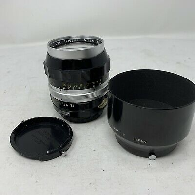 Nikon Nikkor- P Auto 105mm f/2.5 non Ai Lens from Japan with Lens Hood