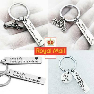 To My Men Women Keyring Special Gift For Her Him Couple Husband Key Ring HOT UK