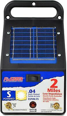 NEW RED SNAP/'R ESP10M-FS SOLAR 10 MILE ELECTRIC FENCE CONTROLLER CHARGER 6976823