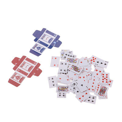 1Set 1:6//1:12Dollhouse Miniatures Accessories Playing Cards Poker Home Bar Decda