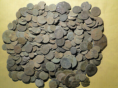 Job Lots of 20 Assorted Roman Bronze Coins for Cleaning and Research lower grade