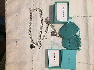 Tiffany & Co Sterling Silver Necklace & Matching Bracelet