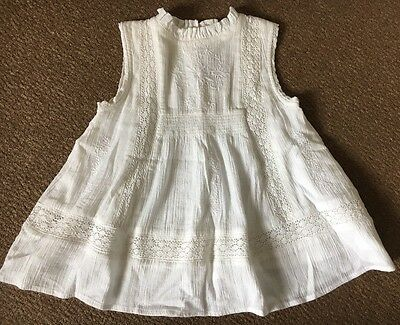 Girls Next White Short Sleeved Top Age 3 New