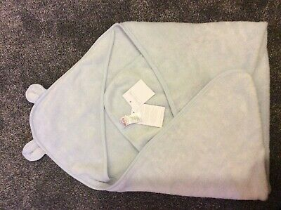 The Little White Company baby blue bear hooded towel bnwt £24 in store