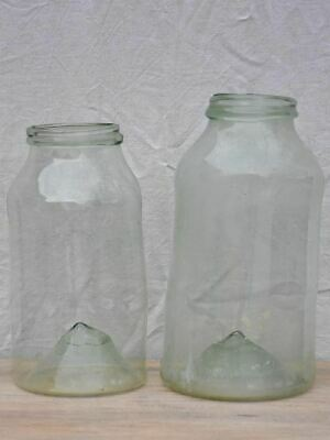 Pair of extra large antique French preserving jars 20½""