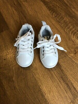 Girls/boys White Trainers Infant Size 5. Worn Once