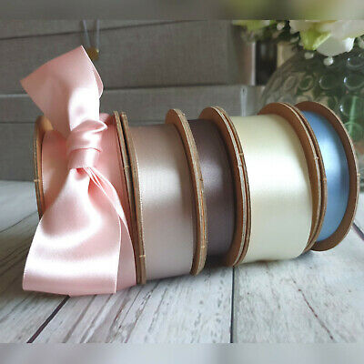 10,15,25,35mm 100% Sustainable Recycled Satin Ribbon. Wedding Eco Friendly Earth