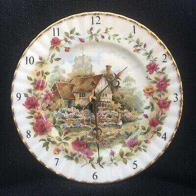 Royal Albert Old Country Roses Cottage Wall Clock