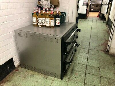 double stack commercial pizza oven